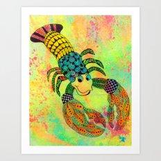 Zentangle Lobster Art Print
