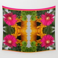 hot pink Wall Tapestries featuring hot pink by EnglishRose23