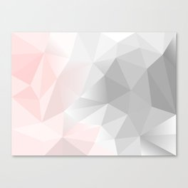 pink and gray geometric low poly background Canvas Print