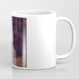 Sexy naked woman bound with heavy iron shackles Coffee Mug