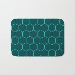 Bue light hexagons.0 Bath Mat
