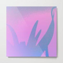 Aloe pink mist Metal Print