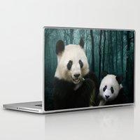 pandas Laptop & iPad Skins featuring Giant Pandas by Julie Hoddinott