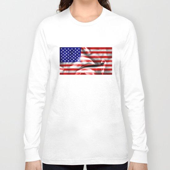 USA Flag Long Sleeve T-shirt