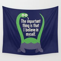 david Wall Tapestries featuring Myth Understood by David Olenick