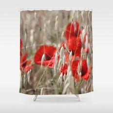Poppies  - JUSTART © Shower Curtain