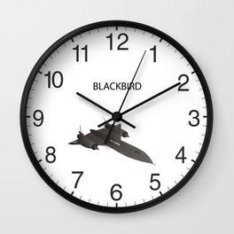 SR-71 Blackbird Reconnaissance Aircraft Wall Clock
