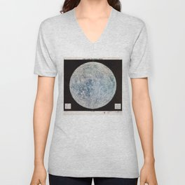 Lunar Reference Mosaic LEM-1 (Moon Map from 1966) Unisex V-Neck