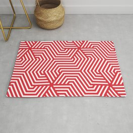 Rose madder - red - Minimal Vector Seamless Pattern Rug