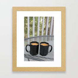 Coffee Times Two Framed Art Print