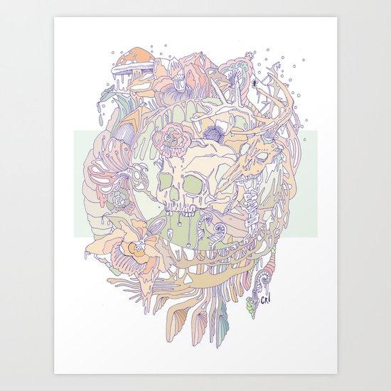 bone & beauty Art Print