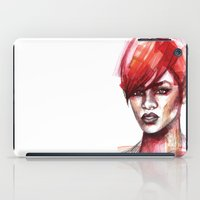 rihanna iPad Cases featuring Rihanna by Allison Kunath