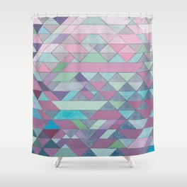 Triangle Pattern no.3 Violet Shower Curtain