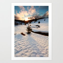 Winter story Art Print
