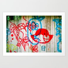One over the other Art Print