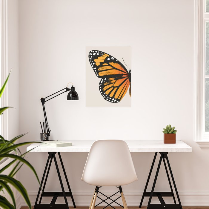 Monarch Butterfly | Left Wing Poster