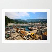 korean Art Prints featuring Korean Seaport  by Wandering Lyzka