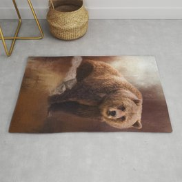 Great Strength - Grizzly Bear Art Rug