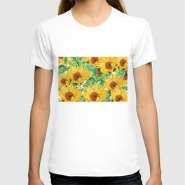 sunflower pattern T-shirt