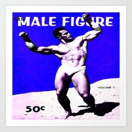 Male Figure 50 cents  Art Print
