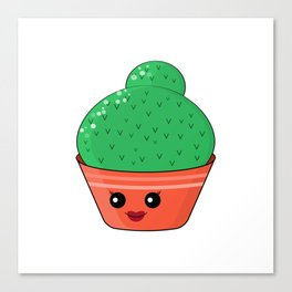 Hilarious cacti. Baby and kids style Canvas Print