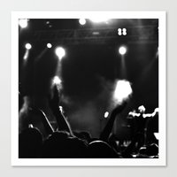 concert Canvas Prints featuring Concert by Adrián Peñalver