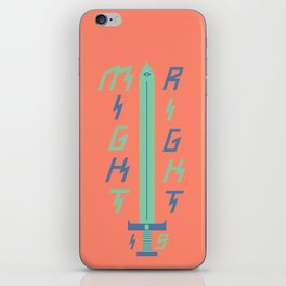 Might is Right iPhone Skin