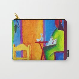 The Sad Cafe tropical still life portrait painting Carry-All Pouch