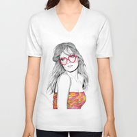 lolita V-neck T-shirts featuring Lolita by label tania