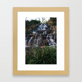 Autumn waterfalls Framed Art Print