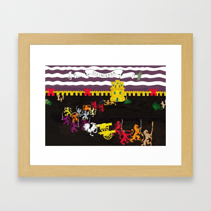 We are a Fortress Framed Art Print