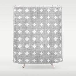 Small Swiss Cross Shower Curtain
