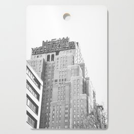 New Yorker Sign - NYC Black and White Cutting Board