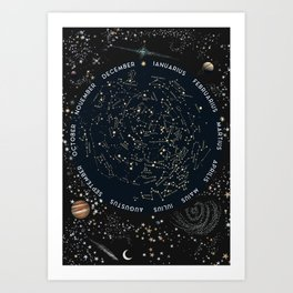 Come with me to see the stars Art Print