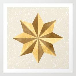 Golden Star Art Print