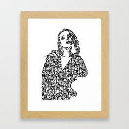Kanji Calligraphy Art :woman's face #21 Framed Art Print