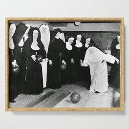 Nuns Bowling Serving Tray