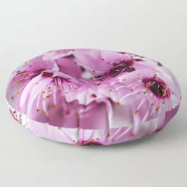 Colorful Cherry Blossom Flowers Floor Pillow