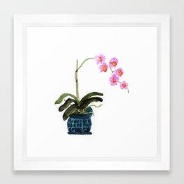Orchid - alcohol ink Framed Art Print