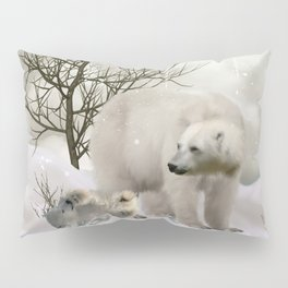 Awesome polar bear Pillow Sham