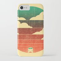 vw bus iPhone & iPod Cases featuring Go West by Picomodi