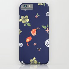Floral with Birds on blue Slim Case iPhone 6s