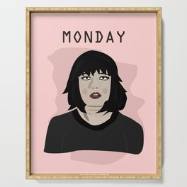 The Monday Girl Serving Tray