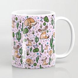Cute Fennec Fox Pattern Coffee Mug