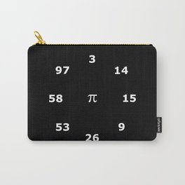 Pi Clock 3.1415926535897 Carry-All Pouch