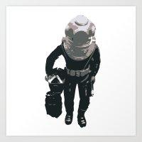 scuba Art Prints featuring Scuba Diver by Jentfah