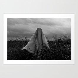 Ghost in the Field - Wide Art Print