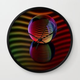 Reflections in the crystal ball. Wall Clock