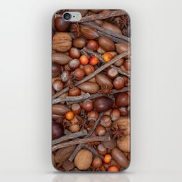 Festive nuts and spices iPhone Skin
