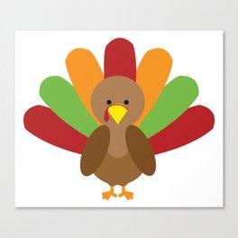 Cute Thanksgiving turkey Canvas Print
